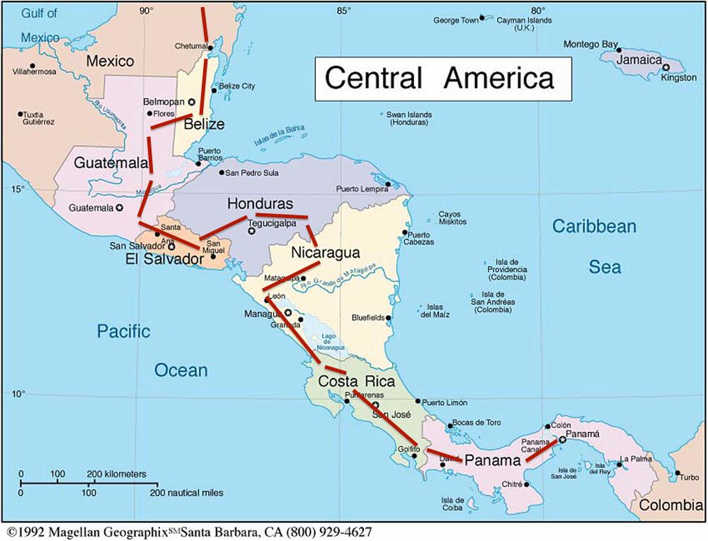 Cycling The Americas En La Bicicleta - South america road map